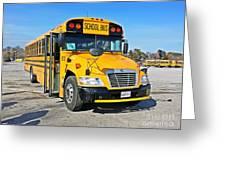 Blue Bird Vision School Bus Greeting Card