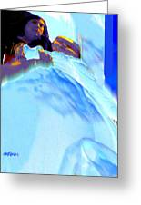 Blue Blanket Greeting Card