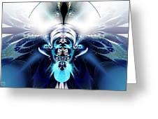 Blue Blazes Greeting Card