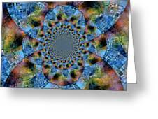 Blue Bling Greeting Card
