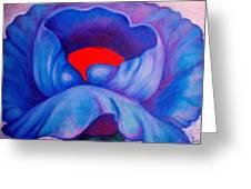 Blue Bloom Greeting Card