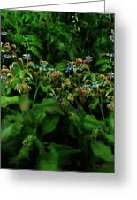 Blue Blossoms By Moonlight Greeting Card