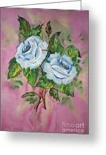 Blue Blue Roses Greeting Card