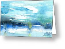 Blue Blue The World Is Blue Greeting Card