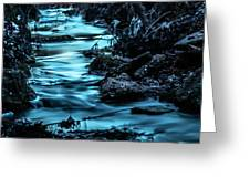 Blue Blur Greeting Card