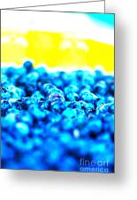 Blue Blur Greeting Card