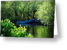 Blue Boat Cong Ireland Greeting Card