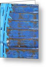 Blue Boat In Venice Greeting Card