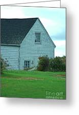 Blue Boathouse Greeting Card