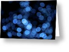 Blue Bokeh Blur Greeting Card