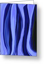 Blue Bottle Abstract Greeting Card