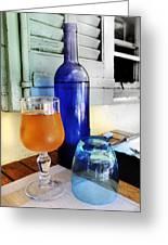 Blue Bottle Greeting Card