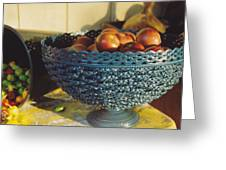 Blue Bowl Greeting Card by Jan Amiss Photography