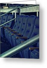 Blue Box Seats Greeting Card