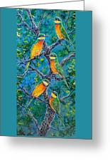 Blue Breasted Bee Eater Greeting Card