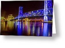 Blue Bridge 2 Greeting Card