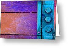 Blue Bridge Bolts Greeting Card
