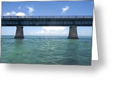 Blue Bridge Greeting Card