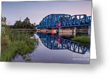 Blue Bridge Over The St. Marys River Kingsland, Georgia Greeting Card