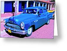 Blue Buick Greeting Card