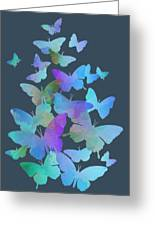 Blue Butterfly Flutter Greeting Card