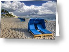 Blue Cabana Greeting Card