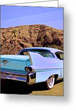 Blue Cadillac Greeting Card