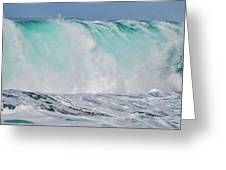 Blue Cascade   Hawaiian Wave Greeting Card