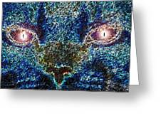Blue Cat Greeting Card