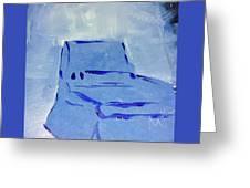 Blue Chair Greeting Card