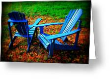 Blue Chairs Greeting Card