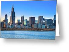 Blue Chicago Greeting Card