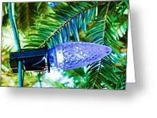 Blue Christmas Light Greeting Card