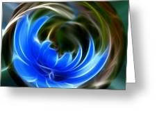 Blue Circle Of Life Greeting Card