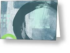Blue Circles 2- Art By Linda Woods Greeting Card