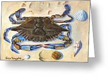Blue Claw Crab Greeting Card