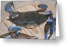 Blue Claw Crab Greeting Card
