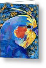 Blue Cockatiel Greeting Card