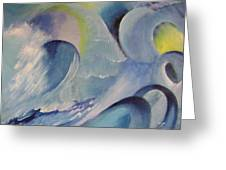 Blue Concerto 1 Greeting Card
