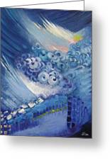 Blue Concerto 2 Greeting Card