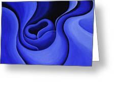 Blue Corolla Greeting Card