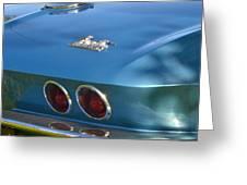 Blue Corvette Stingray Greeting Card