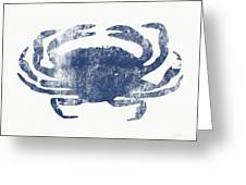 Blue Crab- Art By Linda Woods Greeting Card