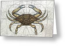 Blue Crab Greeting Card by Charles Harden
