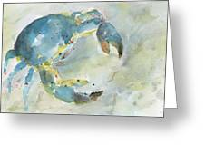 Blue Crab. Greeting Card