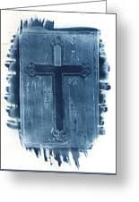 Blue Cross Greeting Card