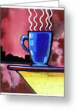 Blue Cup Greeting Card