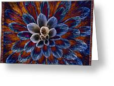 Blue Dahlia Greeting Card