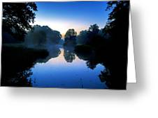 Blue Dawn Greeting Card