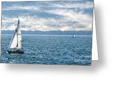 Blue Days On Lake Erie Greeting Card